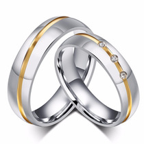 Alianças Polidas Namoro Compromisso Prata 950k Ouro 18k Par