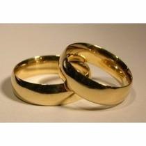 Par Aliança Compromisso Aço Inox Cor:ouro Frete Grátis
