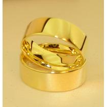 Par De Alianças Em Ouro 18k 0,750 Com 10grs. 5mm.