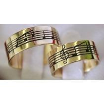 Alianças Com Notas Musicais De Ouro Maciço 18 Klt Promoção