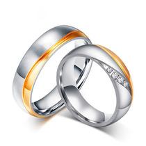 Aliança Dourada Ouro Prata De Compromisso Noivado Casamento