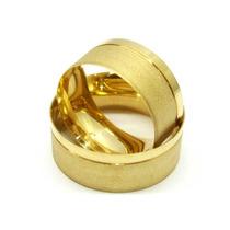 Par Alianças Cor De Ouro 11mm, Feita Com Moedas Antigas