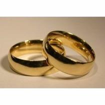 Par Aliança Compromisso Noivado Anatômica Aço Inox Cor:ouro