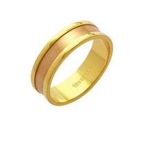 Aliança De Ouro 18k 750 E Ouro Vermelho Largura 6.00mm Altu