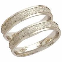 Par Aliança Casamento Fosca Reta Trabalhada Ouro18k - Al117c
