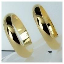 Par Alianças 4mm 6grs Ouro 18k Abauladas Frete Promoção!!!!