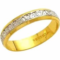 Aliança De Casamento Bodas De Prata 18k - Al57