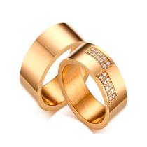 Aliança Grossa Com Pedras Anatômica Banhada Folheada A Ouro