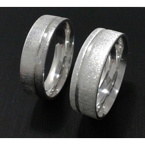 Aliança Em Prata 10mm