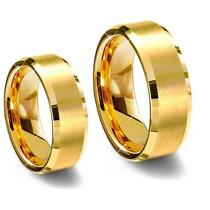 Par Alianças Moedas Antiga Casamento Noivado 8 Mm Cor Ouro