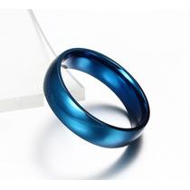 Par De Aliança Azull De Tungstênio 6mm Banh. A Ouro 24k