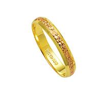 Aliança De Ouro 18k 750 E Ouro Vermelho Largura 3.50mm Altu