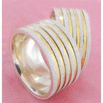 Alianças Prata 950 E Ouro 10mm Diamantada O Par Frete Grátis