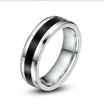 Anel Aliança Namoro Compromisso Prata Aço Inox 316l
