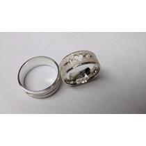 Par De Aliancas Em Prata 950 Coracao Vazado Diamantada Shai