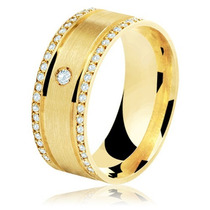 Par Alianças Intenso 10mm 30g Ouro 18k Maciço 41 Diamantes