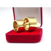 Par Aliança Unidade 14mm Casamento Feita De Moeda Antiga