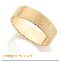 *aliança Dourada Folheada Ouro 18k Fosca Rommanel 511619