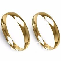 Par Alianças 2,5mm 3grs Ouro 18k Abauladas Frete Promoção!!!