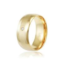 Par Aliança Anatômica Modelo Luxo 8mm 3 Camadas Ouro 18k