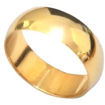 Aliança De Prata Banhada A Ouro 24k 8gr O Par.