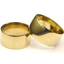 Alianca Casamento Cor De Ouro Grossa Par 10mm, Moeda Antiga