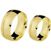 Alianca P/casamento 12mm Cor De Ouro Grossa Moeda Antiga