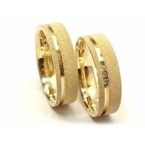 Par De Aliança Banhadas A Ouro 24k 8mm Sedex Grátis