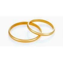 Par De Alianças Casamento/noivado Em Ouro 18 K (750)