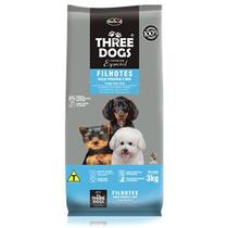 Ração Three Dogs Filhotes Raças Pequenas E Mini 3 Kg