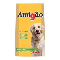 Ração Premium Amigão Cães Adultos Carne, Frango Vegeta 15kg