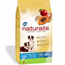 Ração Naturalis Frango Peru E Frutas Para Cães Filhotes 15kg