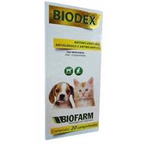 Biodex Analgésico Para Cães E Gatos 20 Comprimidos