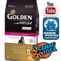 Ração Golden Mega Cães Filhotes Raças Grandes Frango 15 Kg