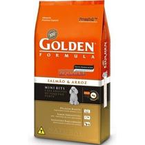 Ração Golden Adulto Mini Bits Salmao & Arroz 15kg Premier