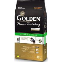 Ração Golden Power Training Frango E Aroz Cães Adultos 15kg
