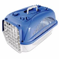 Caixa De Transporte Zoo Plast Azul N1 Cães E Gatos-pet Hobby