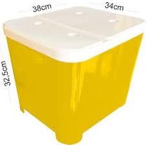 Containers Caixa Plástica Para Armazenar Ração Cães 15 Kg