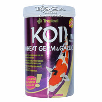 Ração Para Carpas E Kinguios Tropical Koi Wheat Germ&garlic