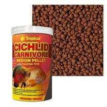 Ração Cichlid Carnivore Medium Pellet Tropical (360g)