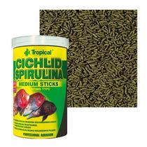 Ração Cichlid Spirulina Medium Sticks Tropical (360g)