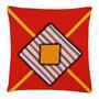 Capa Para Almofada Cruzada Vermelha