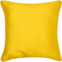 Capa Almofada Amarela 45x45 Decorativas Suede Decor Colorida