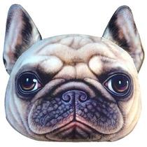 Almofada Cachorro Pug 3d Com Enchimento - Frete Gratis