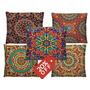 Kit Com 5 Capas P/ Almofadas Decorativas Mandalas