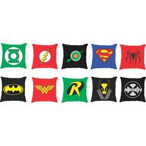 Capa De Almofadas Super Heróis - 10 Unidades