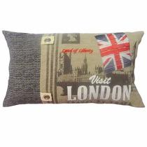 Capa De Almofada Indiana Baguete Visit London 30x50cm