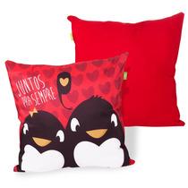 Capa De Almofada - Pinguim Juntos Pra Sempre