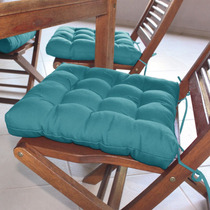 Assento Para Cadeira Futton Confort 40x40cm Azul Ecaza