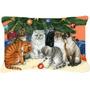 Gatos Sob O Tecido Árvore De Natal Decorativa Pillow Bdba03